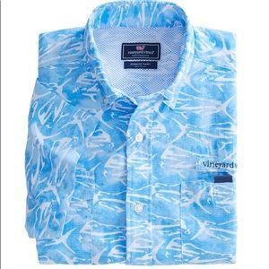 Vineyard Vines Blue Dolphinfish Harbor Shirt